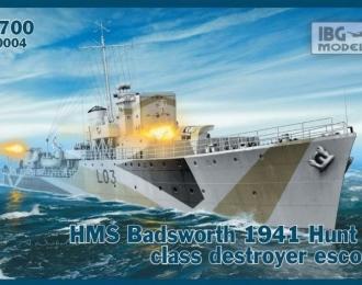 Сборная модель Британский эсминец HMS Badsworth 1941г.