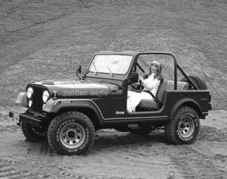 Сборная модель Jeep CJ7 Golden Eagle