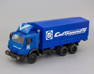 Камский грузовик 53212 (со спойлером) тент Совтрансавто, синий