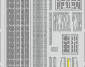 Фототравление для C-130H пол грузового отсека