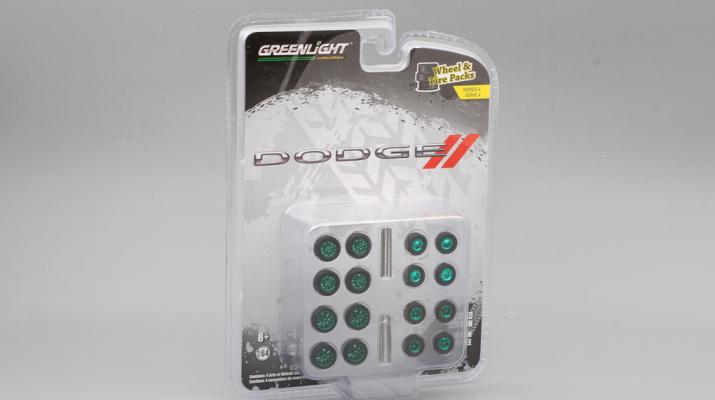 "набор ""Wheel & Tire Packs Series 4"" 4 комплекта колес DODGE (Greenlight!)"