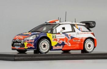 CITROEN DS3 WRC №2 Winner French Rally (S.Ogier - J.Ingrassia) 2011, red