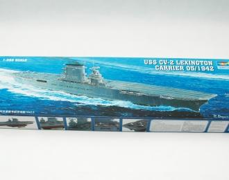 Сборная модель Американский авианосец USS Lexington CV-2 (1942г.)
