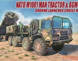 Сборная модель Американский тягач M1014 MAN с ракетным комплексом BGM-109G GRYPHON