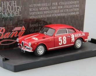 ALFA ROMEO Giulietta 1a serie Rallye Del Sestiere #58, red