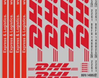 Набор декалей 0215 Контейнеры DHL  (200х140)