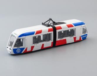 Трамвай Гортранс, белый / красный / голубой