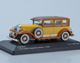(Уценка!) CADILLAC V16 LWB Imperial Sedan 1930 Yellow/Brown