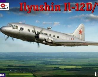 Сборная модель Советский военно-транспортный самолет Ил-12Д / Т