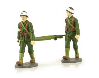 2 Французских военных санитара с носилками