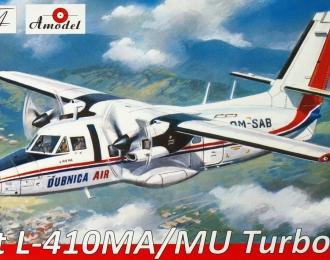Сборная модель Чехословацкий многоцелевой cамолёт Let L-410MA / MU Turbolet