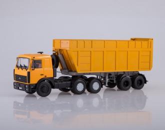 Набор МАЗ-6422 + полуприцеп МАЗ-9506-30, желтый / оранжевый