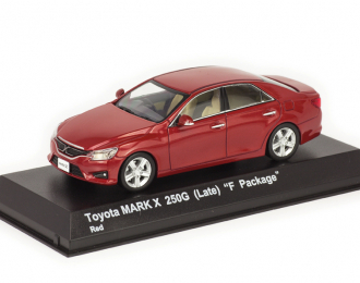 Toyota Mark X 250G (Late) F Package 20 красный