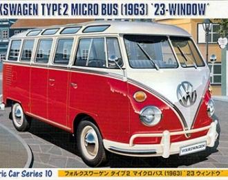 Сборная модель Автомобиль Volkswagen Type 2 Micro Bus 1963