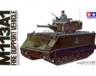 Сборная модель Американский БТР огневой поддержки М113А1 с одной фигурой