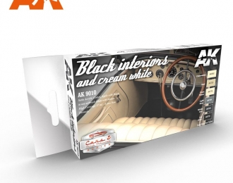 BLACK INTERIORS AND CREAM WHITE (Черный и кремовый интерьер)