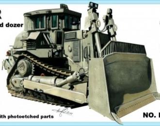Сборная модель Американский бронированный бульдозер Caterpillar D-9R