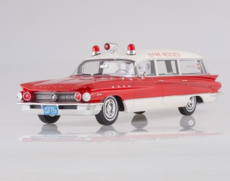BUICK Flxible Premier Ambulance (1960), red/white