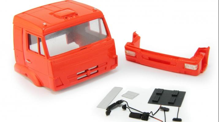 Спальная кабина для КАМАЗ (Евро-4), темно-оранжевый