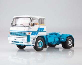 LIAZ-100.471 седельный тягач, белый / голубой