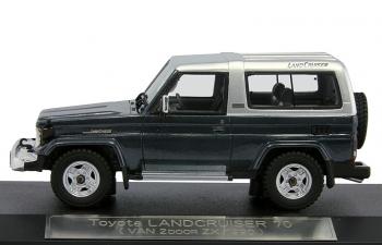 TOYOTA LAND CRUISER 70 Van 2door ZX (1990), blue metallic / silver metallic