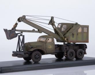 Автомобильный экскаватор-кран ДКА-0,25/5 на шасси ZIS-151 (со следами эксплуатации)