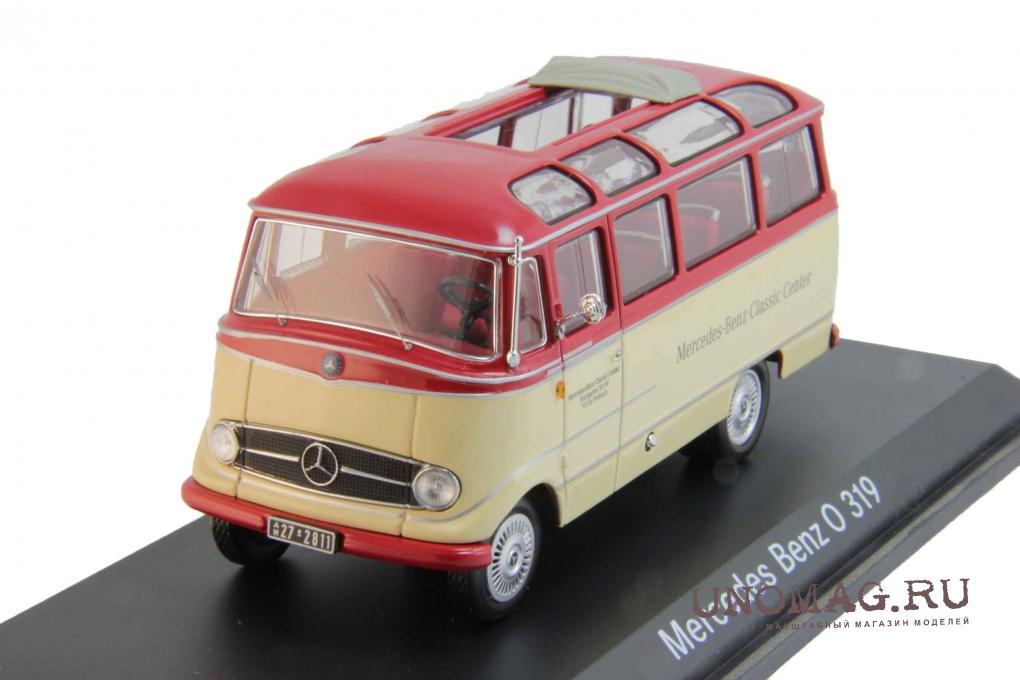 1:18 NOREV MERCEDES o319 bus 1960 blue//crema