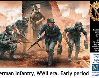 Сборная модель Фигуры, Немецкая пехота, период Второй мировой войны. Начальный период