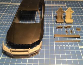 Набор для конверсии Nissan Skyline R34 GTR Sedan (для Aoshima ER34)