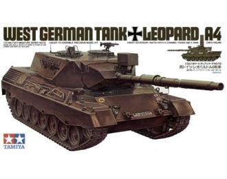 Сборная модель западно-германский танк LEOPARD А4 с 1 фигурой командира