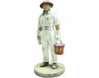 Помощник пожарного с ведром Сингапур 1941
