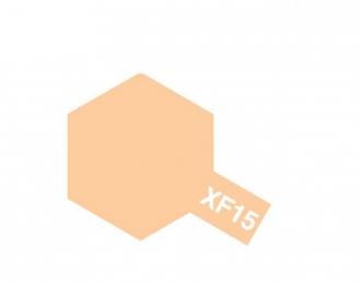 XF-15 Flat Flesh (краска эмалевая, телесный матовый), 10мл.