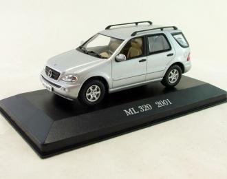 MERCEDES-BENZ ML 320 (2001), Mercedes-Benz Offizielle Modell-Sammlung 64, silver
