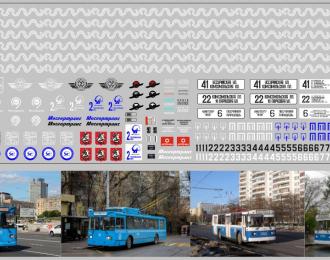 Набор декалей 2й Троллейбусный парк Москвы(100х290)