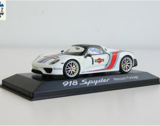PORSCHE 918 Spyder #1 Weissach Package Martini White
