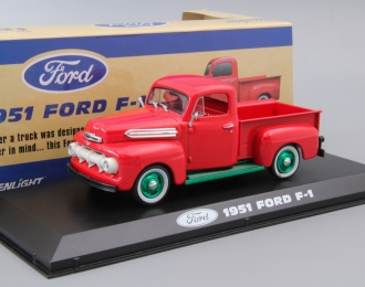FORD F-1 пикап 1951 Coral Flame (Greenlight!)