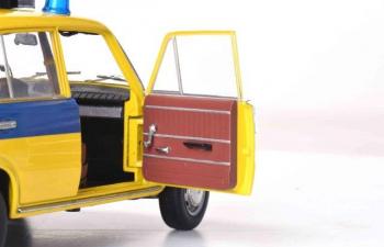 "ВАЗ-2101 ""Жигули"" ГАИ Милиция 1982 (из к/ф ""Инспектор ГАИ"") желтый с синим"