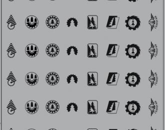 Набор декалей Эмблемы автобаз (лесовозы), черный (100х140)