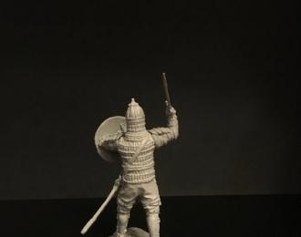 Монгольский военачальник с саблей, войско Мамая (54мм)
