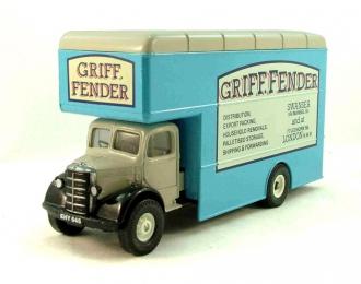 "BEDFORD O-series Pantechnicon ""Griff. Fender"", Classics 1:43, бежевый с голубым"