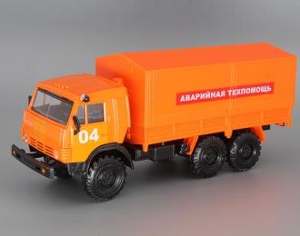 Камский грузовик Аварийная Техпомощь 04, оранжевый
