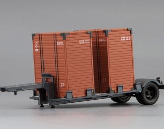 Прицеп Т-213 с контейнерами