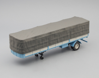МАЗ 9380-2 полуприцеп с тентом, голубой с серым