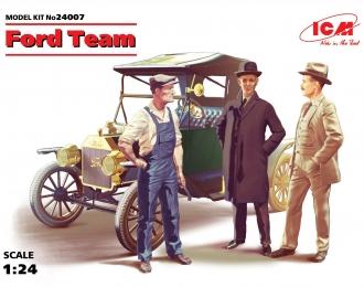 Сборная модель Автомобиль Model T 1913 Roadster и набор фигур команда Форда