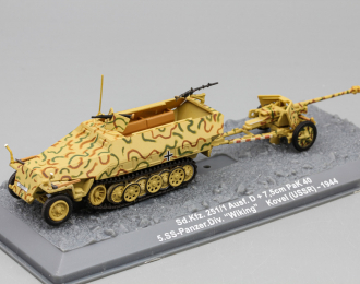"""Sd.Kfz. 251/1 Ausf. D + 7,5cm PaK 40 5.SS-Panzer.Div. """"Wiking"""" Kovel (USSR) - 1944"""
