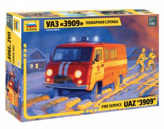 Сборная модель УАЗ 3909 Пожарная служба