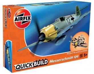 Сборная модель Немецкий истребитель Messerschmitt BF.109 E (сборка без клея)