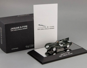 JAGUAR D-Type L.M. 24hr Race Winner J.M.Hawthorn - I.L.Bueb N6 with openings (1955), green