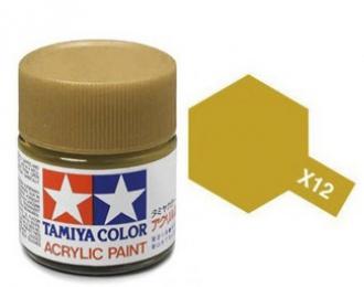 X-12 Gold Leaf (краска акриловая, глянцевый золотистый), 10 мл.