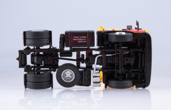 МАЗ-5440 седельный тягач Мосметро, желтый / красный